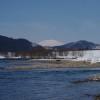 鳥海山と鮭川